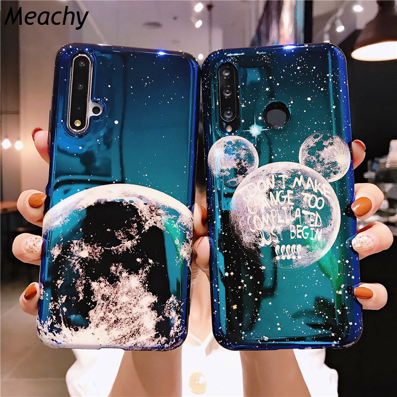 Meachy For Huawei Honor 20 Case Blu-ray Mickey Ear Planet Moon Phone Case For Huawei Honor 20 Pro 20i V20 Soft Silicone Cover image