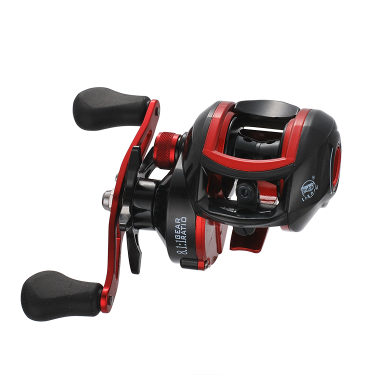 Lizard 4 1BB Left Right Hand Baitcasting Reel 8 1 1 Bait Castingfishing reel With Magnetic