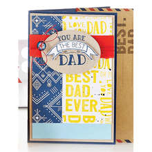 YaMinSanNiO 4Pcs/lot Fathers Day Letter Metal Cutting Dies Mothers Scrapbooking For Card Making DIY Embossing Craft
