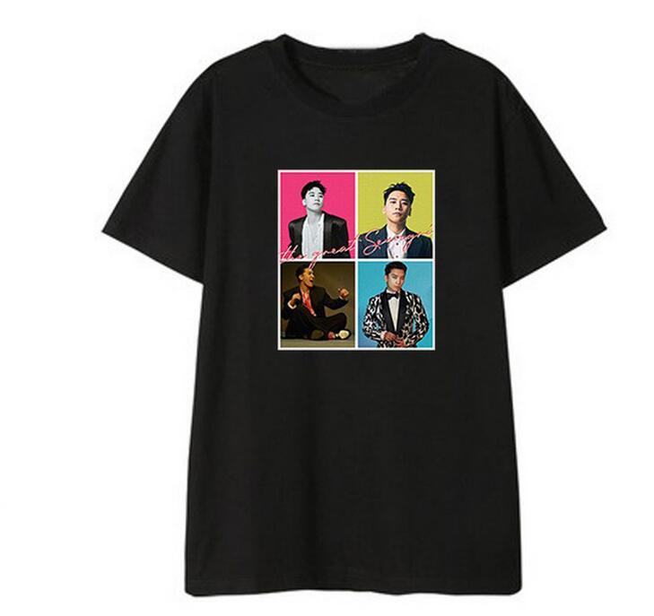 Bigbang SEUNGRI Solo Album The Great Seungri Same Printing O Neck T Shirt For Summer Kpop Unisex Loose Short Sleeve T-shirt