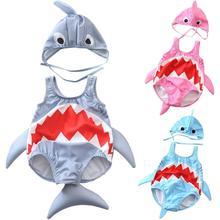 Baby Swimsuit 2019 Fashion Summer Beachwear Toddler Kids Girls Boys Cartoon Shark Bikini Swimwear Bathing Suit