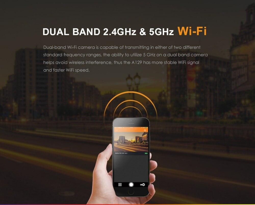 Oryginalny Viofo A129 przedni DVR podwójny kanał 5GHz Wifi Full HD 1080P 30fps IMX291 Starvis do deski rozdzielczej samochodu Cam opcjonalnie GPS i tylna kamera