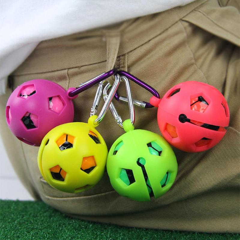 5cm Silicone Golf Ball Protective Cover Keyring Keychain Sleeve Golf Accessories