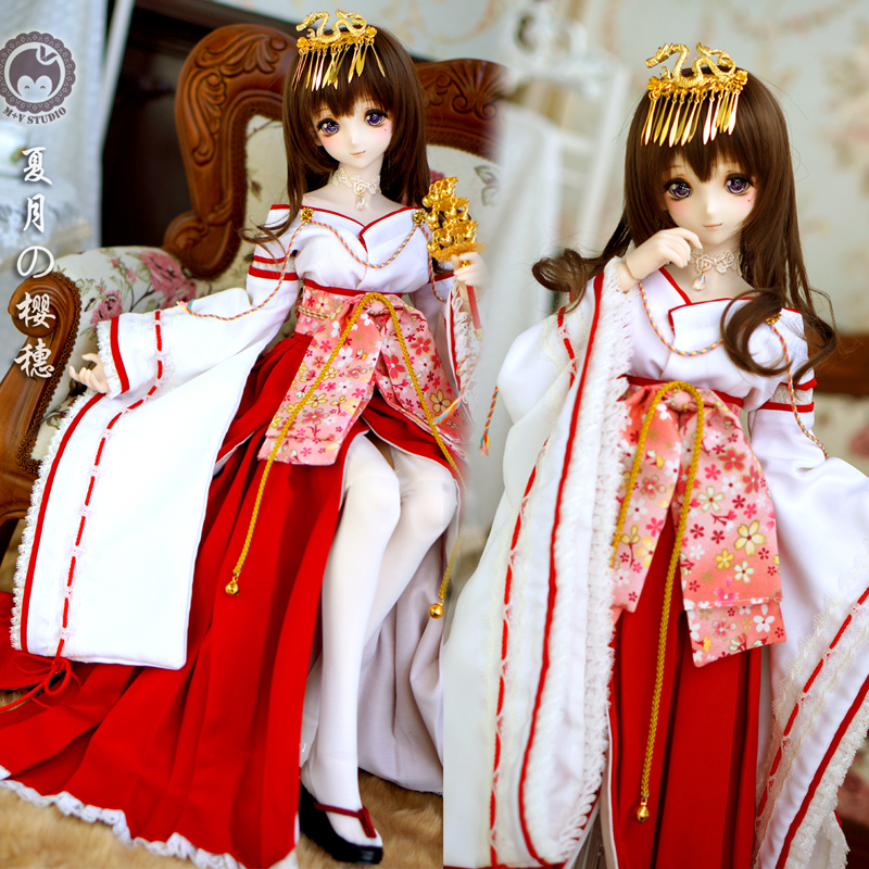 [Agent]Ancient costume Miko suit improved kimono 1/3 BJD SD DD Doll Clothes