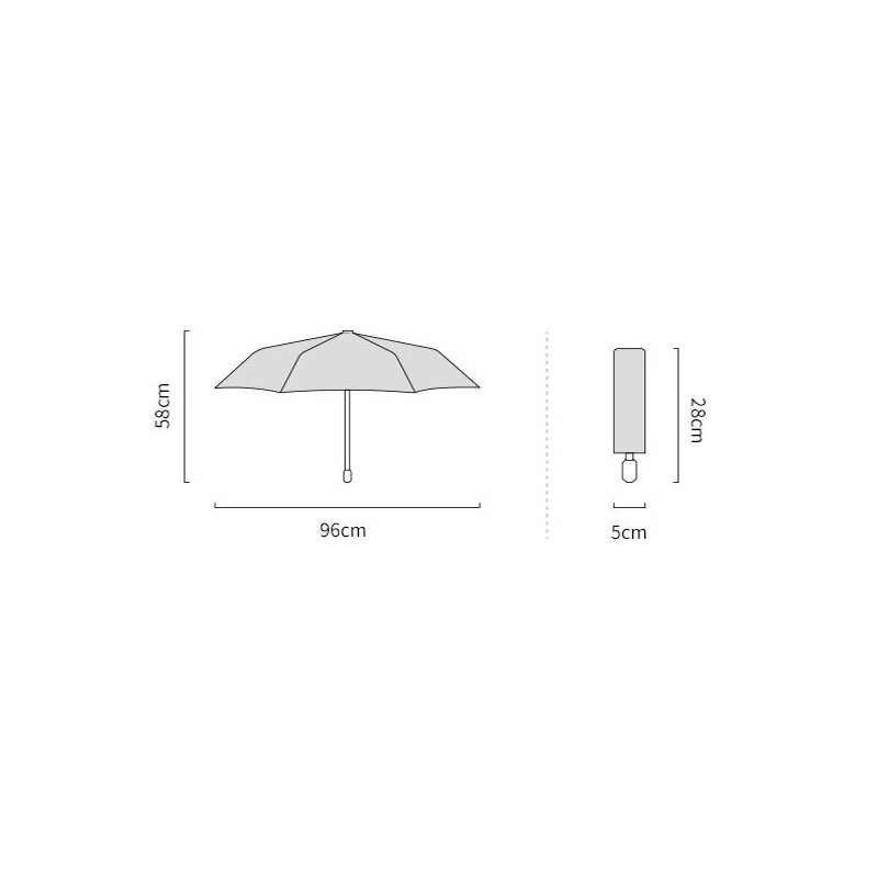 Gato listrado três-fold guarda-chuva para mulher à prova de vento lápis chuvoso guarda-chuvas animal gato preto revestimento bolso guarda-sol