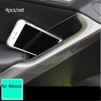 4pcs Set Car Styling Dedicated Modified Door Handle Storage Box Phone Holder Tray Pallet Case For