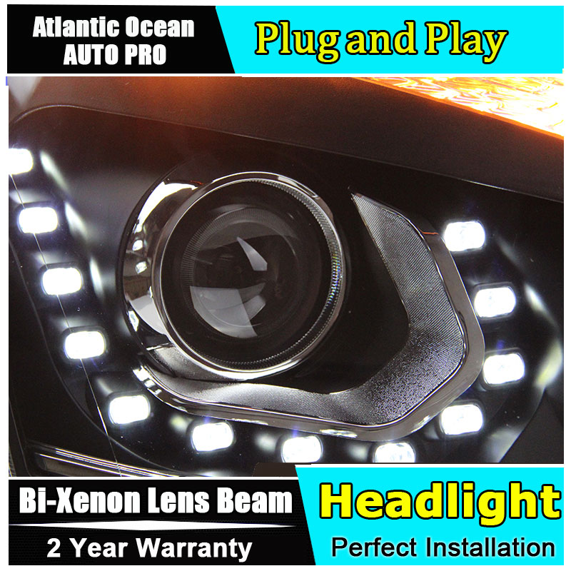 Car Styling Head Lamp for Nissan Qashqai led headlight 2009-2014 New Qashqai headlights drl headlight HID KIT Bi-Xenon Lens car styling led head lamp for honda cr v 2012 2014 headlight assembly drl bi xenon lens hid automobile accessorie