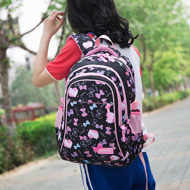 Kids Printing Backpacks Set Waterproof Children School Bags Kids mochila infantil Schoolbag Girls Princess School Backpacks(China)
