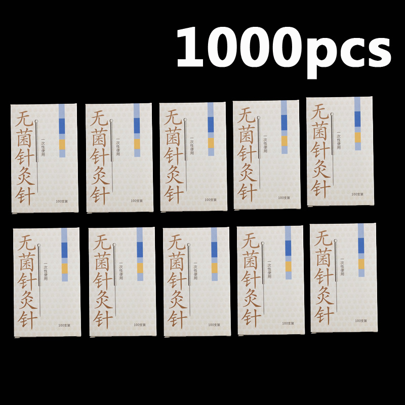 10boxes of 100pcs Cloud Dragon Acupuncture Needles Non-Needle-Tubing sterilization Package Version 100pcs box zhongyan taihe acupuncture needle disposable needle beauty massage needle with tube