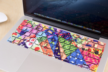 Free shipping Removable cute colorful and beautiful world waterproof and dustproof keyboard stickers for computer notebook air