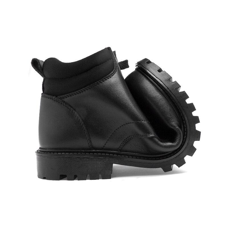 Pour No Véritable black Botas Neige De Hommes Hiver Caoutchouc Fur Black Chaud Cuir Cheville Hombre La With Sécurité Bottes Chaussures Nouveau Fur En Casual TTHnrF