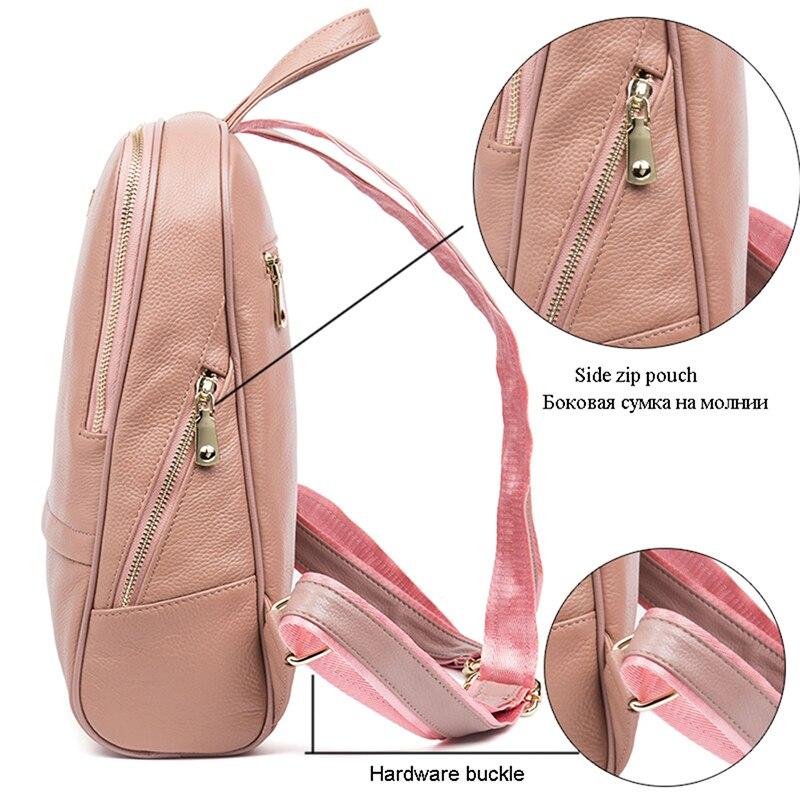 Sacs Élèves D'école Américain Femmes Dames Concepteur Sac Des Mode Peau pink red De En Dos Véritable Cuir Style Vache Marque 100 À Black Hmily R7Tfqf