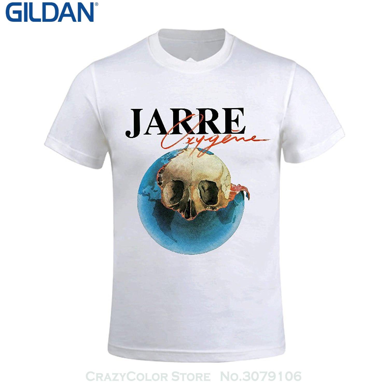 GILDAN Newest 2017 T Shirt Men Tshirt Jean Michel Jarre Oxygne Mens Round Neck Unique Tee Shirt