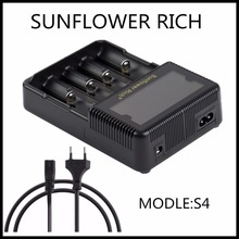 2017 new Sunflower RICH S4 LCD 18650 26650 AA AAA Li-ion 20700 battery charger LI-FEPO4 NI-MH BATTERY Handheld Gimbals charger