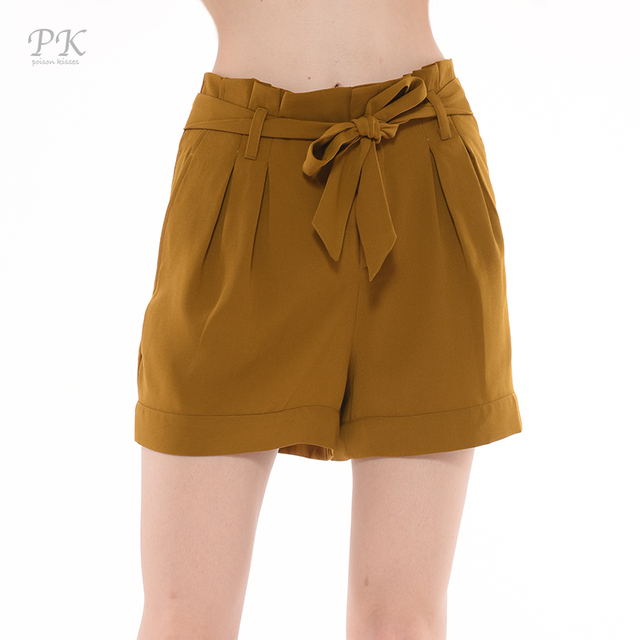 Aliexpress.com : Buy PK yellow high waist shorts 2017 beach ...