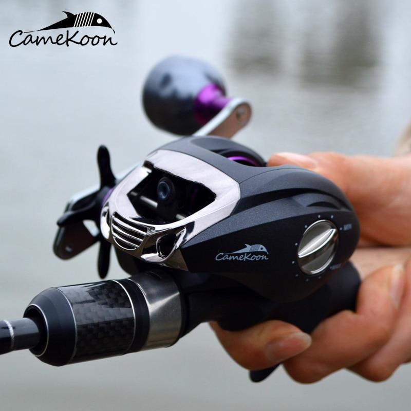 CAMEKOON VIKING Baitcasting Fishing Reel 6KG Max Drag 12 1 Bearings 6 3 1 Smooth Low