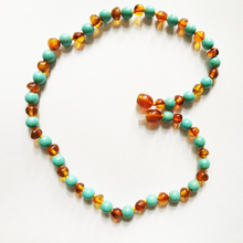 Natural Chalcedony round bead necklace