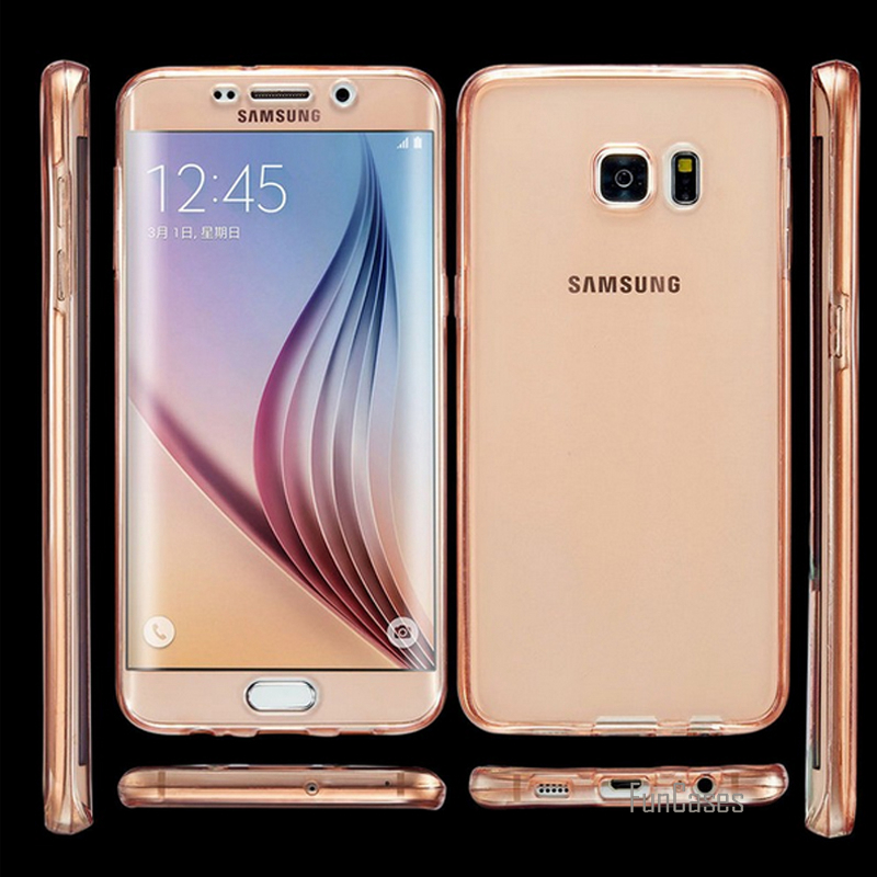 S7 Edge High Quality Flexible Ultra Thin Soft TPU Case Cover for Samsung Galaxy S7 S7 Edge 360 Full Body Protection Phone case