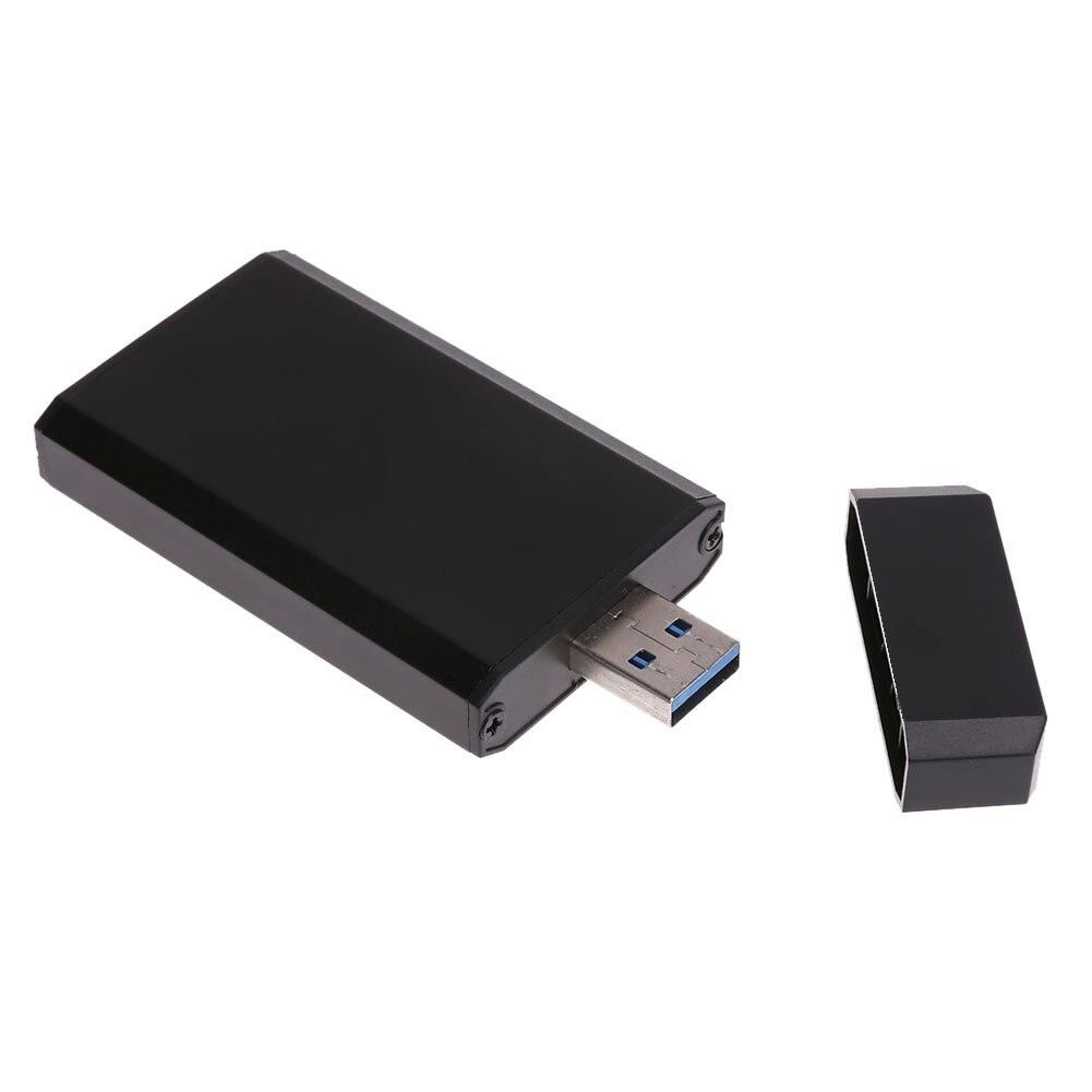 Portable Mini PCI-e mSATA SSD to USB 3.0 Converter Adapter Enclosure Case Mobile Hard Disk Box for 30 X 50 mm mSATA SSD super speed mini msata to usb 3 0 ssd hard disk box external enclosure case with cable for windows 2000 xp vista 7 8 mac os