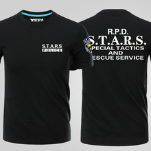 Mens Casual Resident Evil S.T.A.R.S Logo Leon RPD Short Sleeve Cotton O-Neck Print T-shirts Tee Shirts Tops