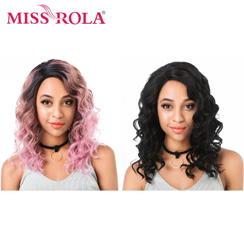 Miss Rola Side Lace Front Wig Ombre Three Tone Colors Loose Deep Synthetic Lace Front Wig Stand Portable Folding Wig Stand