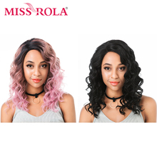 все цены на Miss Rola Side Lace Front Wig Ombre Three Tone Colors Loose Deep Synthetic Lace Front Wig  Stand Portable Folding Wig Stand онлайн