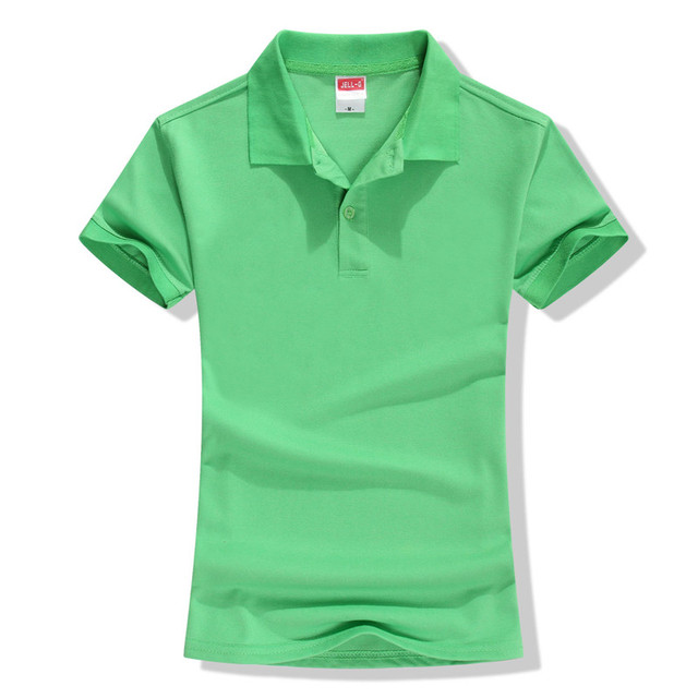 Summer Solid Polo Women...