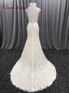 Image 5 - ILoveWedding Vestido largo De novia estilo bohemio, bordado De encaje, sirena, Vestidos De novia estilo bohemio, Vestidos De novia De lujo 2018