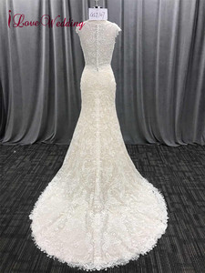 Image 5 - ILoveWedding/длинное кружевное платье в богемном стиле с вышивкой в виде Русалочки, свадебные платья, boho Vestidos De Noiva De Luxo 2018