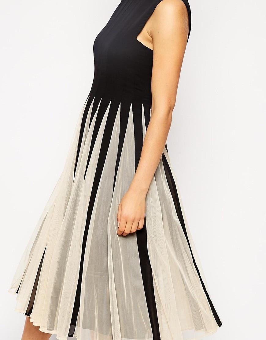 SALE - Contrast color chiffon sweet princess dress 3