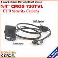 """HD 1/3 """"SONY CCD 700TVL Мини камеры 25 мм объектива можно увидеть лица людей до 23 м высокая чувствительность в темноте"""