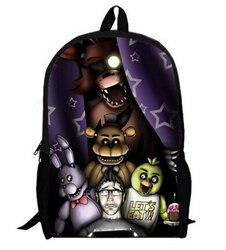 16 Cal pięć nocy w Freddy dziecięce plecaki dostosowane Mochila Feminina ortopedyczne dzieci torba podróżna tornister nastoletni prezent