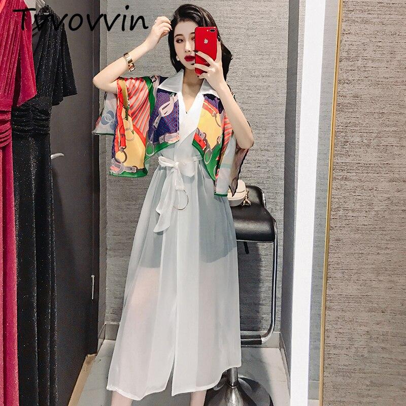 TVVOVVIN mode femmes chemise en mousseline de soie crème solaire sauvage décontracté été 2019 nouveau Blouses femme Style coréen femmes vêtements C136
