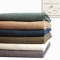 140cm Wide Soft Natural Cotton Linen Cloth Fashion Apparel Solid Blue Green Grey Navy White Coffee
