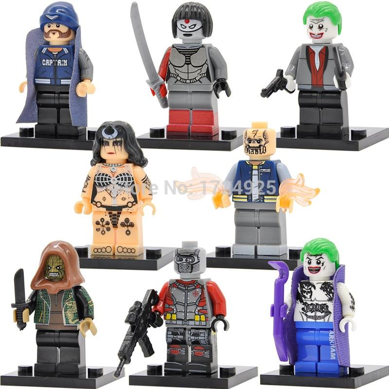 Single Sale DC Super Hero Figure Suicide Squad Block Joker Deadshot Killer Croc Building Blocks Set Models Toys
