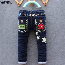 YATFIML ON SALES Autumn Winter Boys casual thick pants for kids cotton warm Children's trousers Boys corduroy long pants
