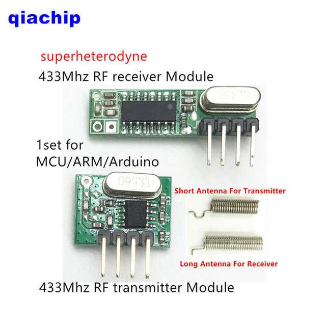 online shop 433 mhz rf module superheterodyne receiver transmitter