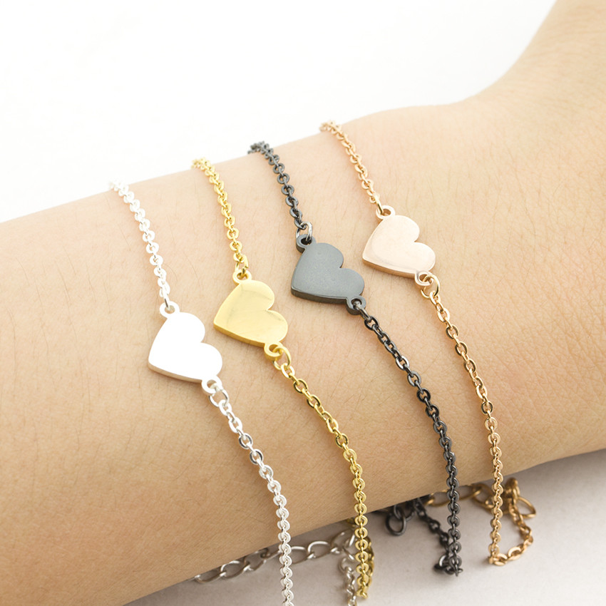 chain link bracelet for women with arrow embellishment simplistic jewelry gifts under 25 for teens mixed metal bracelets