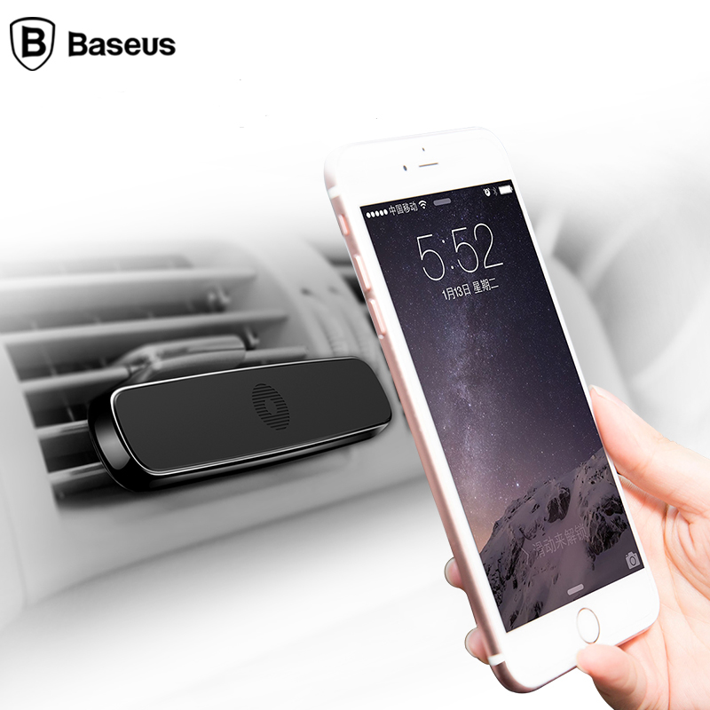 Baseus car phone Holder for iphone X 6 6S 7 Samsung car Air Vent Mount Mobile holder Magnet Magnetico Supporto Del Telefono
