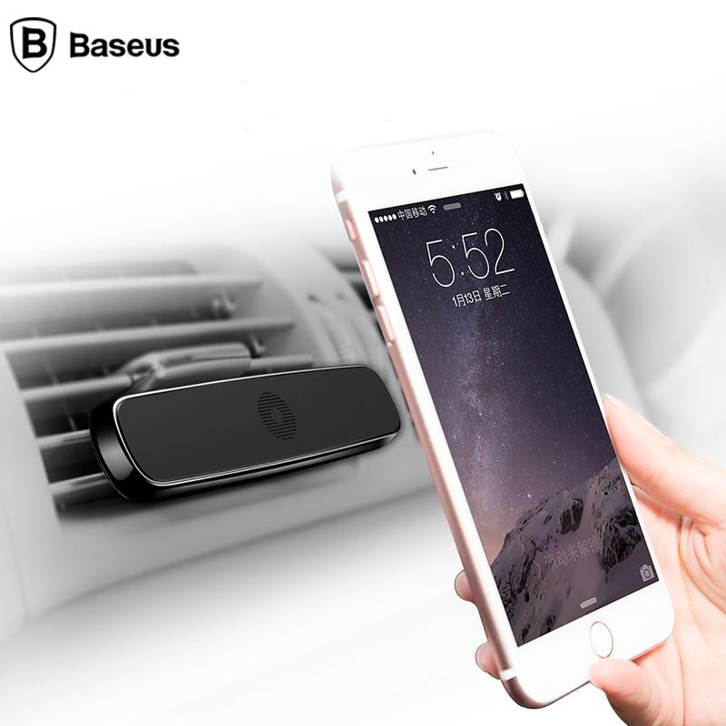 Baseus car phone Holder for iphone X 6 6S 7 magnetic car Air Vent Mount Mobile holder Magnet Magnetico Supporto Del Telefono