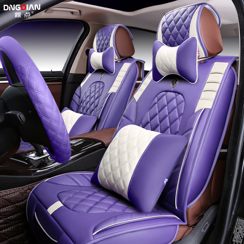 3D Styling Car Seat Cover For Ford Edge Escape Kuga Fusion Mondeo Ecosport Explorer Focus Fiesta,High-fiber Leather,