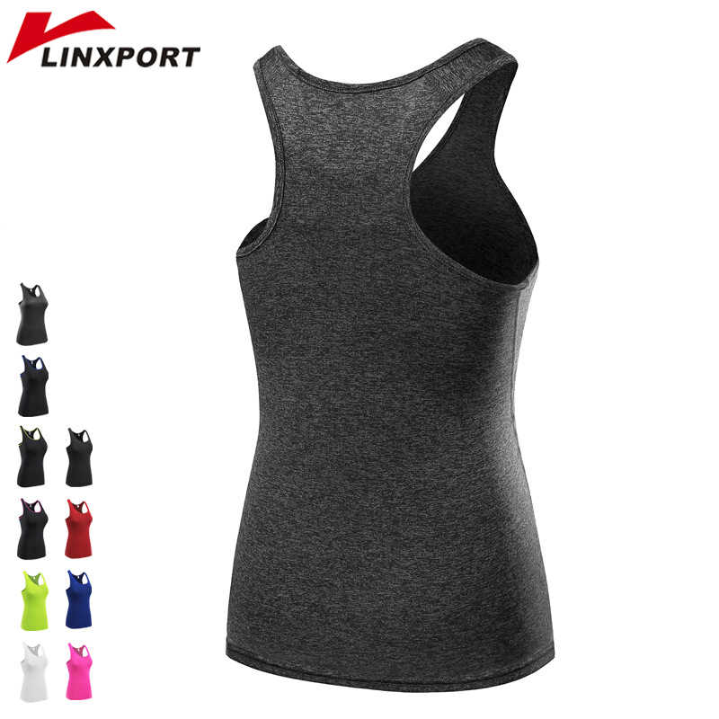 Women's Sports Vest Professional Quick Dry Fitness Tank Tops Active Wear Workout Yoga Clothes T shirt Running Gym Jogging Vest