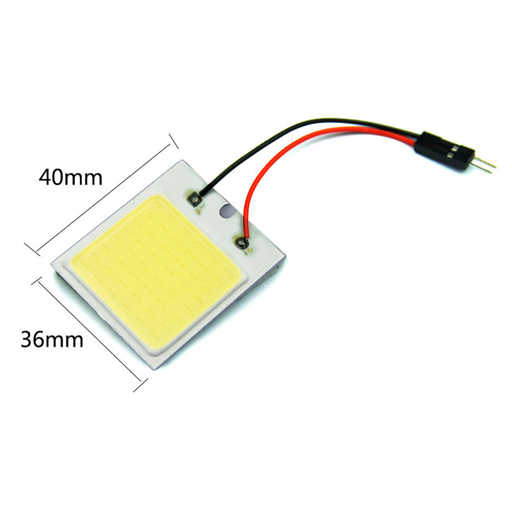 AUTO 48 led SMD 12V Car Van Interior Ceiling automobiles car-styling Dome Festoon Car In ...