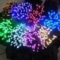 Солнечные Лампы 12 м 100LED Огни Строки Для Наружного Газон Патио Двор Крыльцо Сад 7 Цвет
