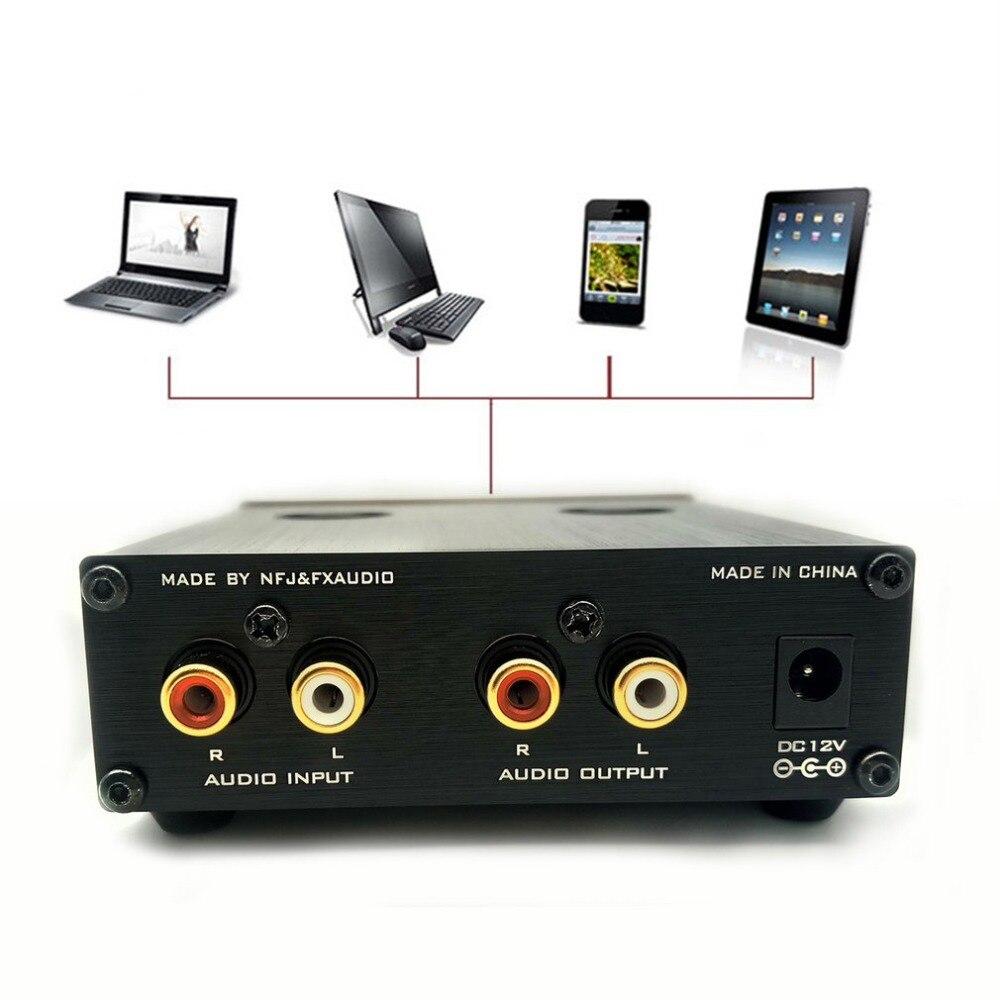 FX AUDIO Tube 03 Fever Bile Preamp 6j1 Tube Hifi Preamplifier Preamp Audio Hi Fi Stereo Pre Amplifier Treble & Bass Control|Operational Amplifier Chips| |  - title=
