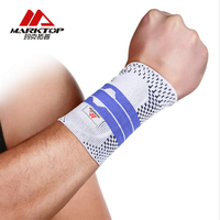 Marktop 1pc/pair Sports Hand Wrist Protection Elastic Wrist Gym Hand Protector Guard Functional Treating Wrist