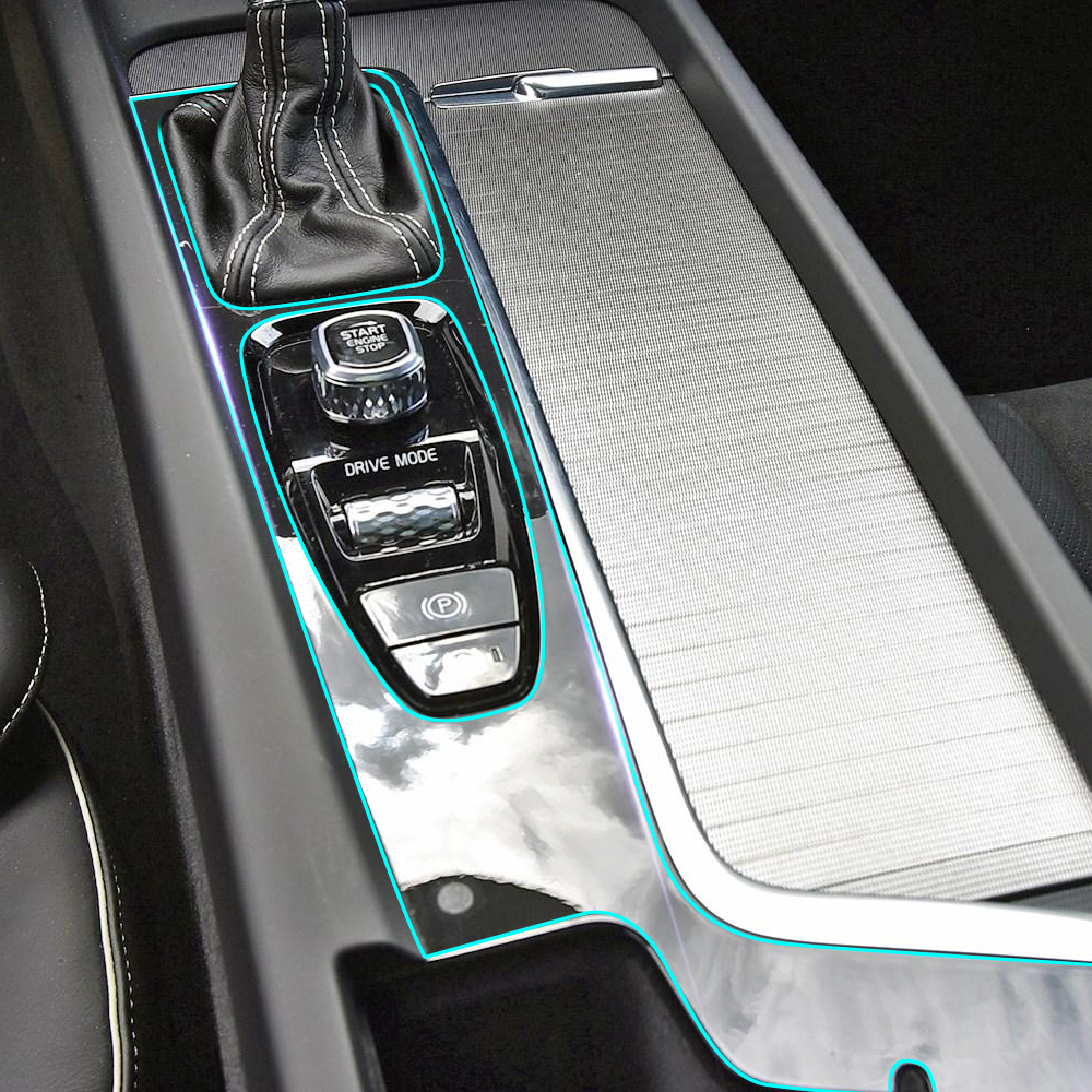 Anti Scratch Car Center Console Control Gear Panel Kit Interior Trim