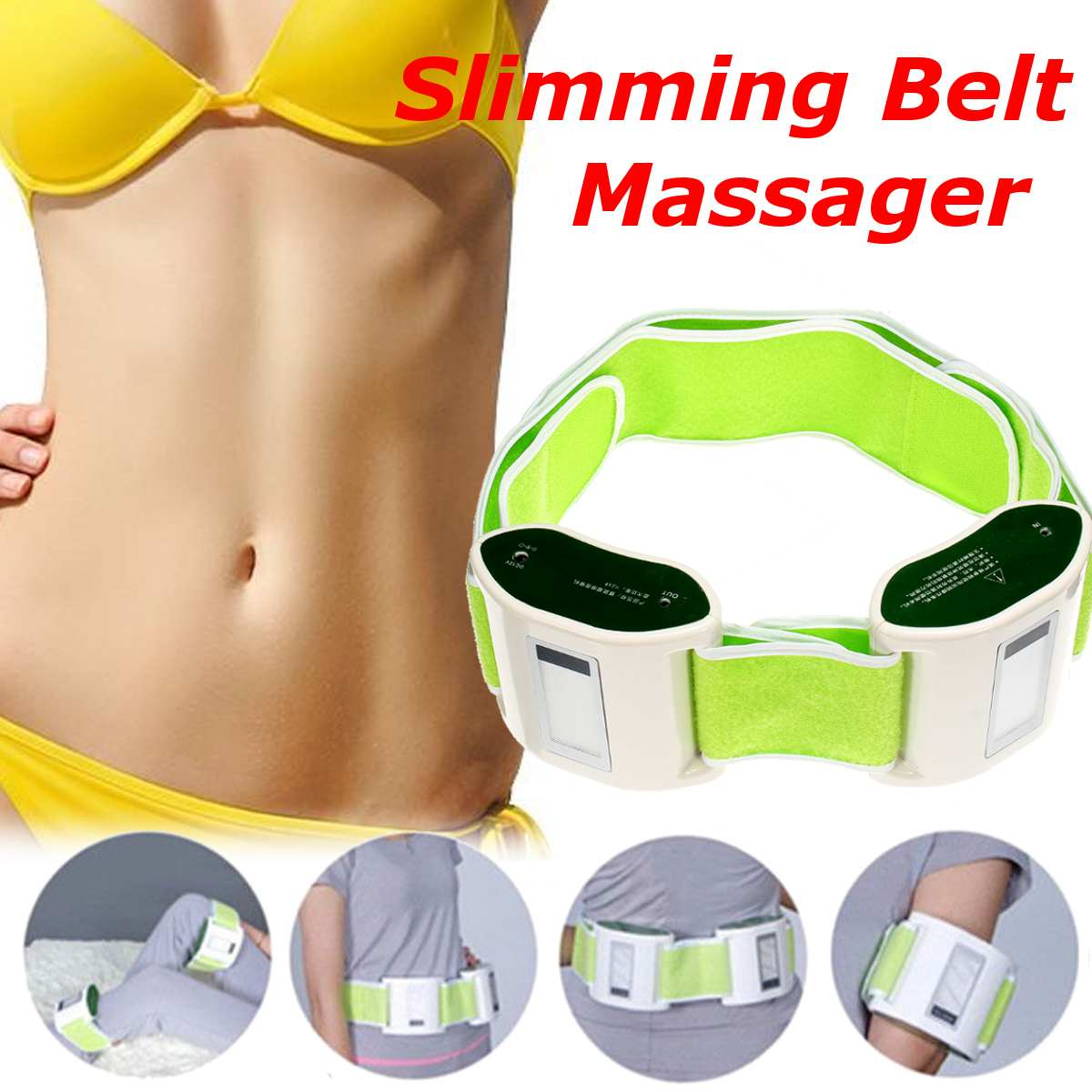 Hot Sale Electric Slimming Belt Lose Weight Sway Vibration Fitness Massage Abdominal Belly Muscle Waist Trainer Stimulator