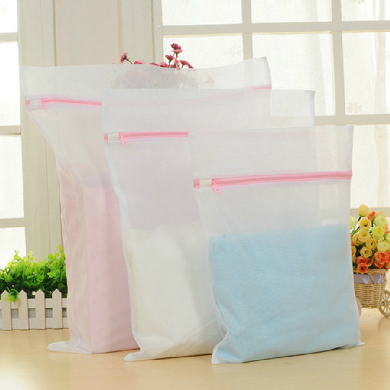 Wash Bags Zippered Mesh laundry bag Foldable Delicates Lingerie Bra Socks Underwear Washing Machine Clothes Protection Net