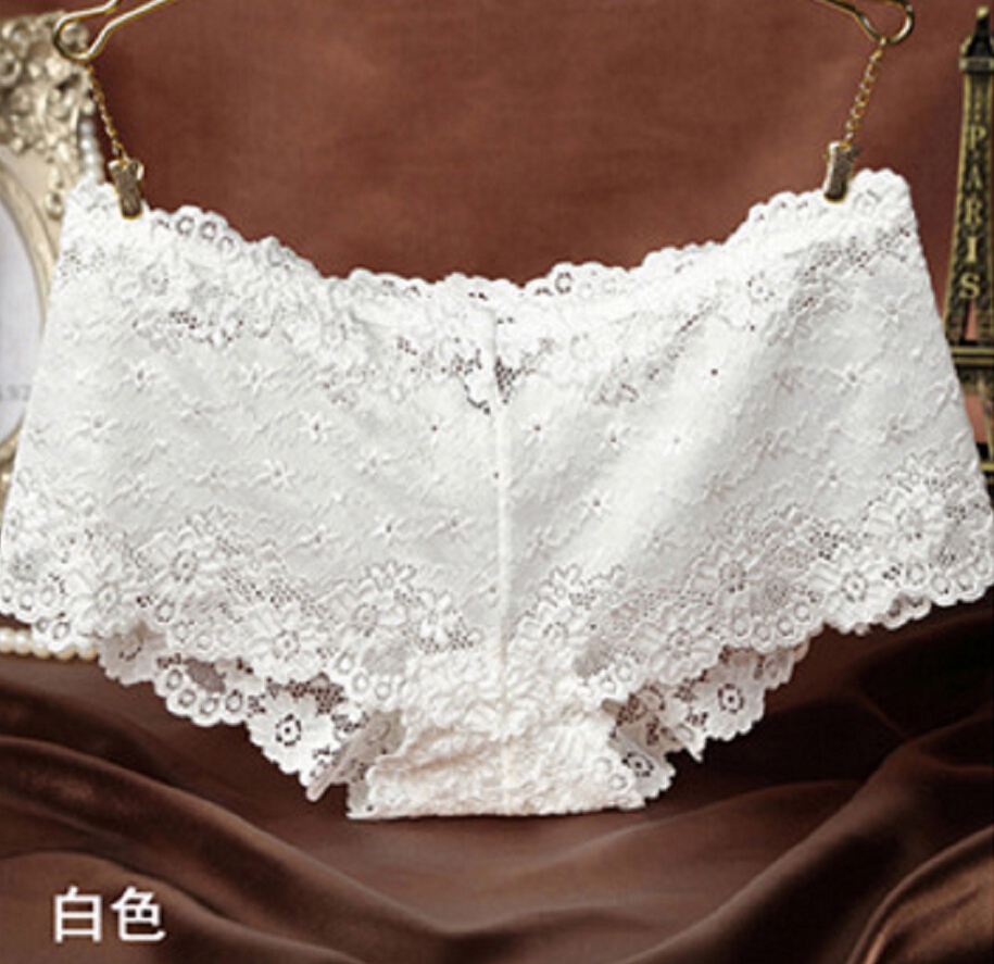 Women Lady Sexy Lace Briefs Floral Shorts Panties Underwear Knickers Underpants Шорты